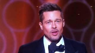 Video Brad Pitt Golden Globes 2017