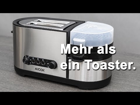 Review AICOK PC 001 Toaster und Eierkocher