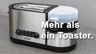 Review AICOK PC 001 Toaster und Eierkocher