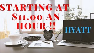 $11 Hourly | HYATT Remote Home Agent | Paid Training 2018 Work At Home Posting #16