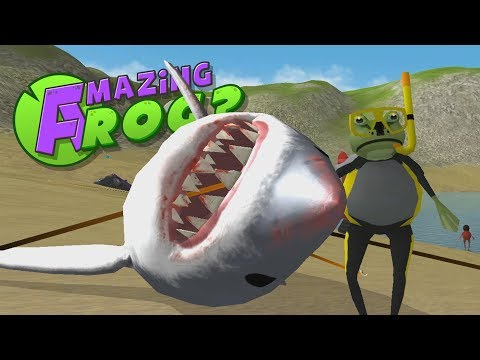 Amazing Frog's Shark Grappling Adventure! -  The Amazing Frog Gameplay - Cosplay