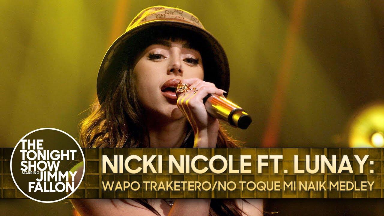 Nicki Nicole ft. Lunay | Medley en Jimmy Fallon Show | #FlowCity
