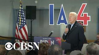"Biden calls voter a ""damn liar"" in Iowa"