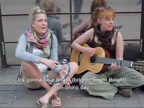 Song: I Can See Clearly Now   PRODUCTED BY: Millan118  SINGER:2 beutifulst Hamburger Stretsinger- 2 Schönste HAMBURGER Straßenmusiker 2 hübsche, nettes Medel, die als erstes, nur für sich selbst singen wo besser auf HAMBURGER STRASSEN?.... war , wie immer auf innline-skait in HAMBURG unterwegs, und sah.. musste einfach stehen bleiben.. die 2 singten und singten.... ich nannte  sie  LARISA & JUDITH...  Song: I Can See Clearly Now Lyrics I can see clearly now, the rain is gone, I can see all obstacles in my way Gone are the dark clouds that had me blind It's gonna be a bright (bright), bright (bright) Sun-Shiny day.  I think I can make it now, the pain is gone All of the bad feelings have disappeared Here is the rainbow I've been prayin?for It's gonna be a bright (bright), bright (bright) Sun-Shiny day.  Look all around, there's nothin?but blue skies Look straight ahead, nothin?but blue skies  I can see clearly now, the rain is gone, I can see all obstacles in my way Gone are the dark clouds that had me blind It's gonna be a bright (bright), bright (bright) Sun-Shiny day.