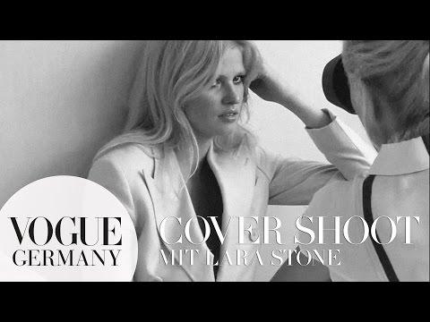Lara Stone hautnah beim Cover-Shoot in Paris – Models backstage