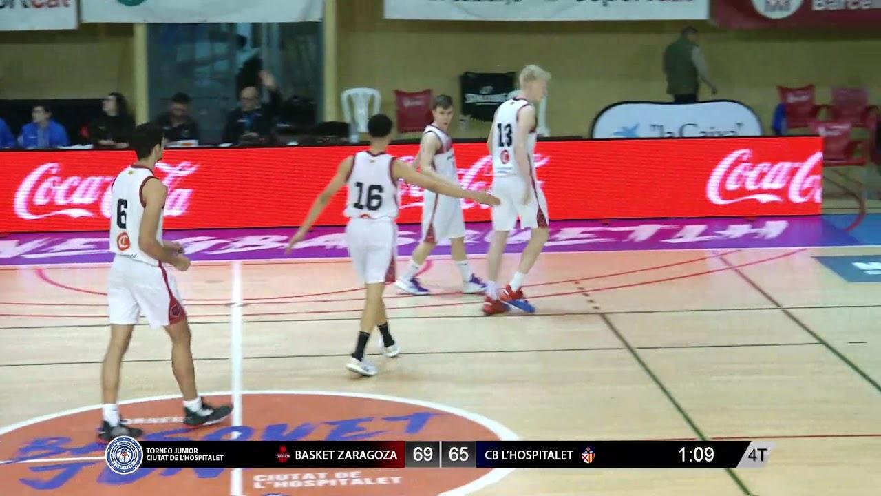 U18M - BASKET ZARAGOZA vs CB L´HOSPITALET.- Torneo Junior L´Hospitalet 2020