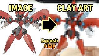 Pokémon Clay art - Mega Scizor Bug/Steel Pokémon