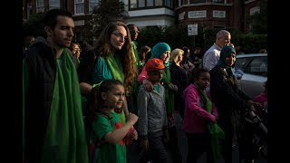 Silence, tears and messages of hope on Grenfell anniversary | ITV News