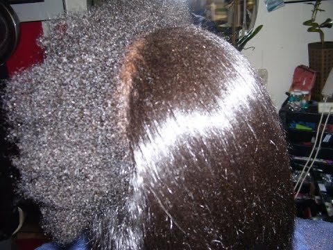 Silk Press/Saran Wrap results on Natural type 4 hair