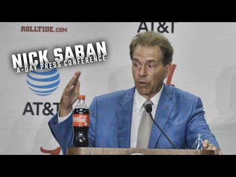 Hear what Nick Saban had to say following Alabama's 2017 A-Day spring game