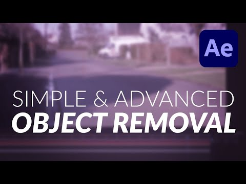 How To: Simple & Advanced Object Removal Tutorial for Video in After Effects and Mocha (2018)