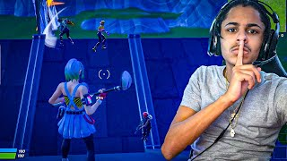 I tried out for a MOBILE Fortnite Clan while CHEATING with a Controller...