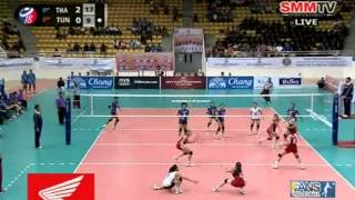 Thailand - Tunisia [Set 3] Girls' U18 World Championship 30-07-2013