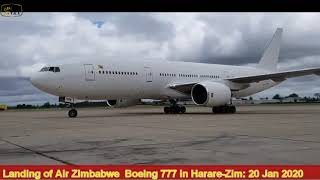 Air Zimbabwe Boeing 777 (B777) Landing At Robert Mugabe Airport   Harare    20012020