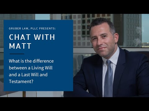 video thumbnail What is the difference between a Living Will and a Last Will and Testament?