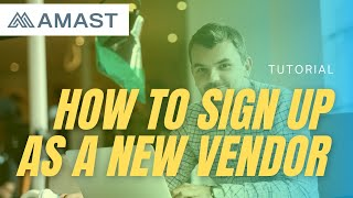 How to Sign Up as a New Vendor Tutorial