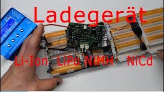 18650 Li-Ion Kapazität messen IMAX B6 mini LiIon LiPo NiMH Akkus testen, messen Ladegerät