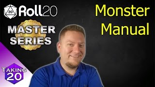 Roll20 Master Series - How to create a Monster Manual (5eSRD) D&D