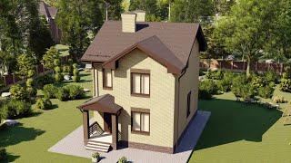 Проект дома 129-D, Площадь дома: 129 м2, Размер дома:  7,8x11,8 м