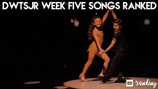 DWTS Jr Week 5 Songs Ranked | Dancing With The Stars Juniors