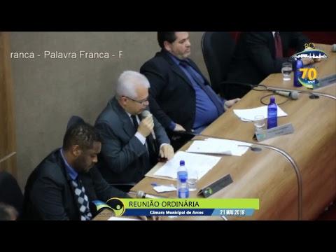 Reunião Ordinária (21/05/2018) - Câmara de Arcos