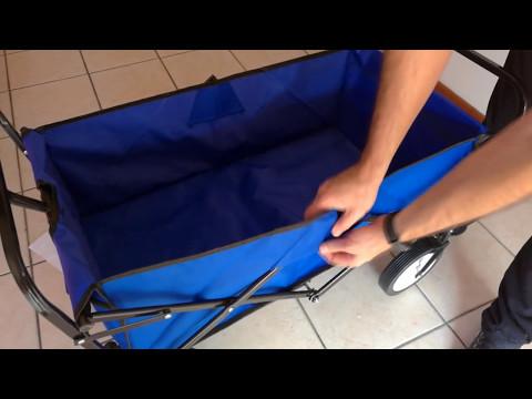 Montaggio del Carrello Pieghevole Carico 80KG (Blu) di Homfa