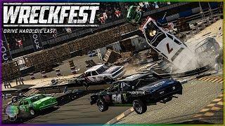 Figure 8 Devastation!   Wreckfest   NASCAR Legends Mod