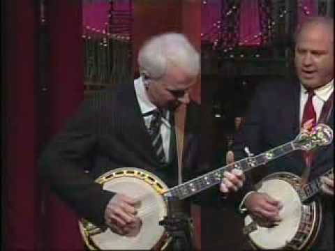 Charles Wood with Steve Martin and Earl Scruggs