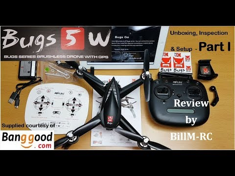 MJX Bugs 5W review - Unboxing, Inspection & Setup (Part I)