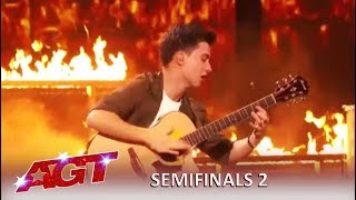Marcin Patrzalek: Master Guitarist Is On FIRE And Proves Simon Wrong | Americas Got Talent 2019