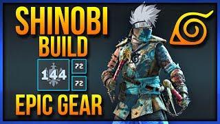 "FOR HONOR: Shinobi - EPIC GEAR BUILD - 144 Max Gear Stats ""Kakashi the Copy Cat Ninja"""