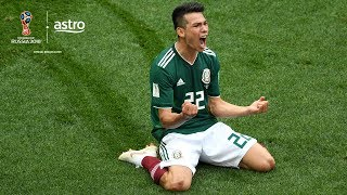 Hirving Lozana surprises favourites Germany with an early goal for Mexico.   Subscribe / Upgrade to Sports Pack: http://bit.ly/2HU3eUx   ✔ Subscribe to Stadium Astro on YouTube: http://bit.ly/2Cfsg8O ✔ Watch Stadium Astro on Astro Go: http://bit.ly/2nW6bIJ   Get more Stadium Astro on YouTube: ► Man On The Street: http://bit.ly/2EkOyIr ► League of Legends: http://bit.ly/2EkEzTf ► Sportify: http://bit.ly/2nTkRrv ► Wishlist: http://bit.ly/2H7TjGV ► For Fans Only: http://bit.ly/2H9xsiy ► Small World: http://bit.ly/2G6VQ2F ► Seriously Series: http://bit.ly/2G5Lv7b ► Prank You Very Much: http://bit.ly/2EolV0Y ► B4KO Exclusive: http://bit.ly/2nT7vLM ► Express: http://bit.ly/2BUZ1N6 ► EPL Highlights: http://bit.ly/2nVHI5K ► EPL Live: http://bit.ly/2nVYRw4   Stadium Astro on Social Media: ► Follow on Twitter: http://www.twitter.com/stadiumastro ► Like on Facebook: http://www.facebook.com/stadiumastro ► Follow on Instagram: http://www.instagram.com/stadium.astro   Visit Stadium Astro on YouTube to get up-to-the-minute sports news coverage, scores, highlights, commentary for EPL, UCL, NBA, WWE and original programming.   More on Stadium Astro: http://www.stadiumastro.com