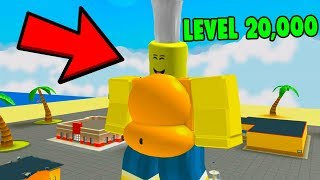 ROBLOX EATING SIMULATOR *FATTEST IN THE GAME*