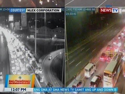 [GMA]  BT: Pagsasara ng bahagi ng NLEX dahil sa itinatayong overpass, nagdulot ng traffic
