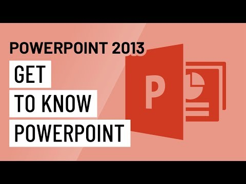 PowerPoint 2013: Getting to Know PowerPoint