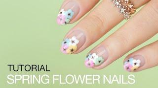 Spring Flower Nail Art - Tutorial    SoNailicious