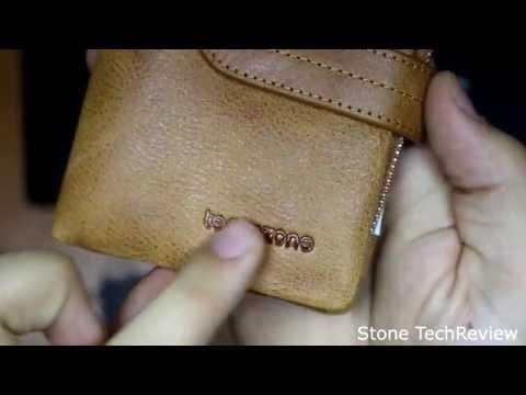 Unboxing Teemzone Leder Portemonnaie für Herren&Damen mit abnemhmenbarer Münzbörse 12,5x3x10cm