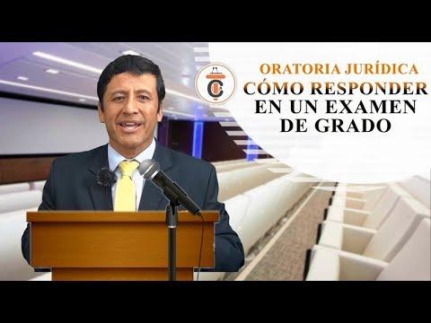 CÓMO RESPONDER EN UN EXAMEN DE GRADO - Tribuna Constitucional 111 - Guido Aguila Grados