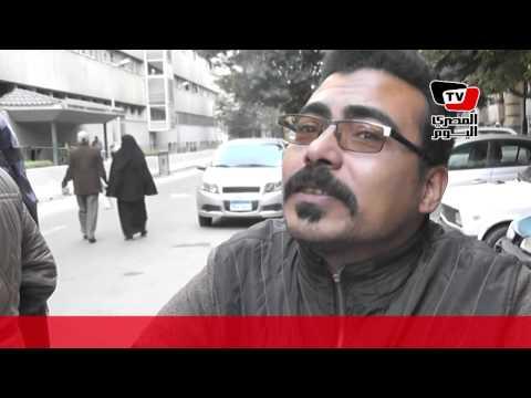 معاقون يحتجون أمام مجلس الوزراء للمطالبة بالحصول على شقق