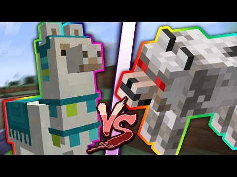 LLAMAS VS WOLVES | Minecraft 1.11 Mob Battles