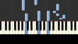 CJ AKO   Слеза любви Synthesia красивая простая грустная мелодия игра на пианино piano tutorial