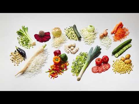 Procesadora Industrial KRONEN GS10-2 para vegetales hortalizas tubérculos frutas