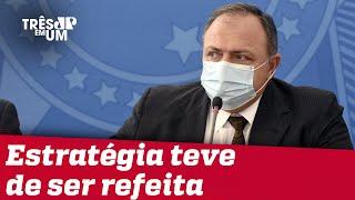 Pazuello diz que Ministério da Saúde não pode ser responsabilizado pelo atraso da vacina
