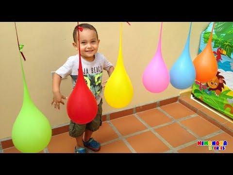Aprende los colores con globos 🎈🎈 Juegos para niños - Videos educativos - Mimonona Stories