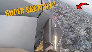 REALLY SKETCHYDANGEROUS CLIMB IN LONDON!