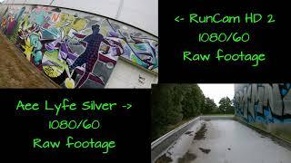 FPV 360 - CineWhoop Comparison test RunCamHD2 vs. AeeLyfeSilver 1080 60