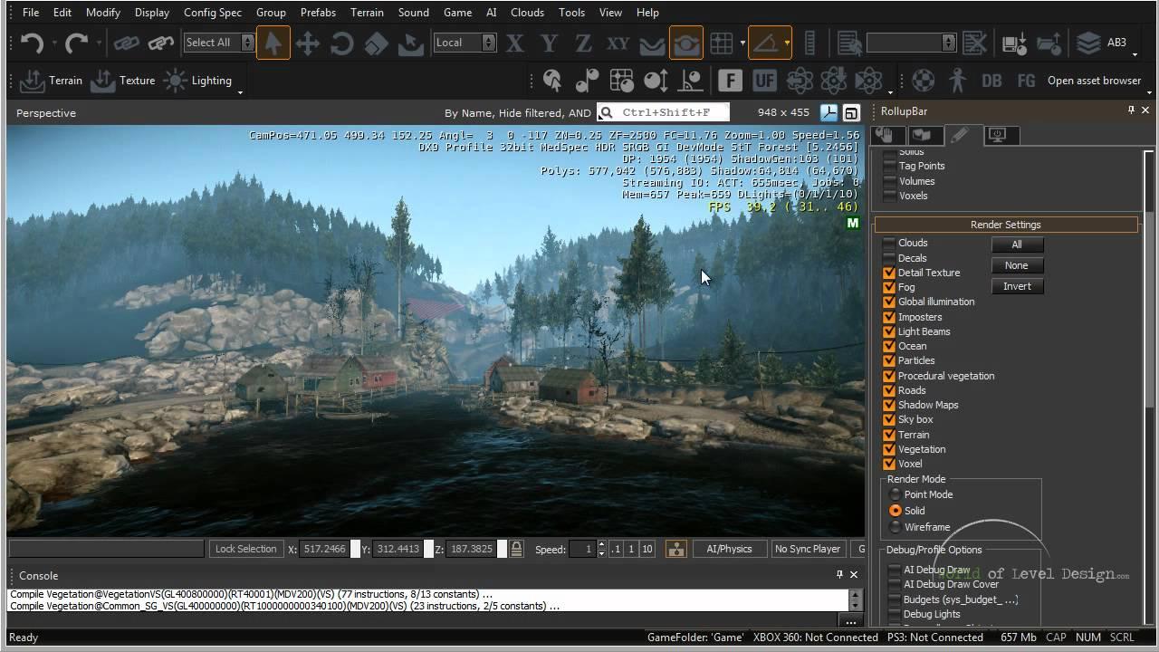 CryEngine 3 SDK: Navigation, Interface, Viewports - Tutorial 02