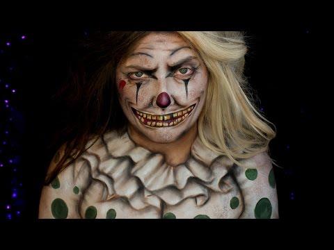 Creepy Vintage Clown Halloween Makeup Tutorial | Jordan Hanz