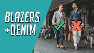 How to Wear a Blazer With Jeans CORRECTLY || Gent's Lounge 2019