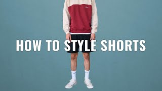 How To Style Sports Shorts   Mens Summer Fashion
